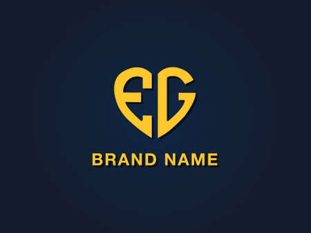 Minimal love initial letter EG logo. This icon incorporate with two love shape typeface in the creative way.It will be suitable for which company or brand name start those initial.