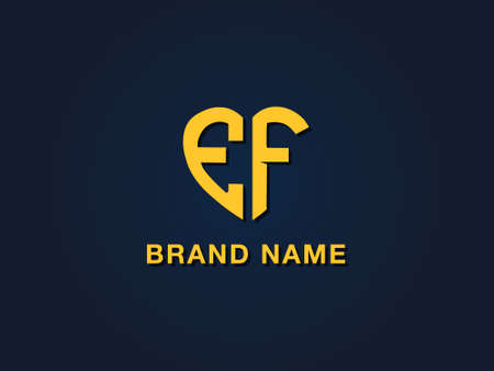 Minimal love initial letter EF logo. This icon incorporate with two love shape typeface in the creative way.It will be suitable for which company or brand name start those initial.