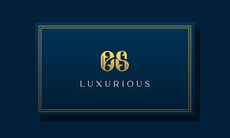 Vintage royal initial letter ES logo. This logo incorporate with luxurious typeface in the creative way.It will be suitable for Royalty, Boutique, Hotel, Heraldic, fashion and Jewelry.