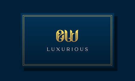 Vintage royal initial letter EW logo. This logo incorporate with luxurious typeface in the creative way.It will be suitable for Royalty, Boutique, Hotel, Heraldic, fashion and Jewelry.