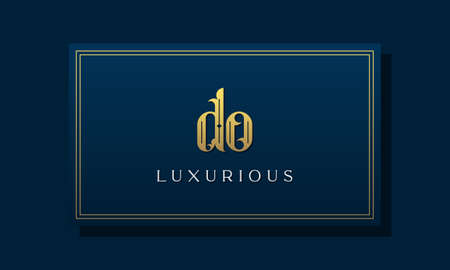 Vintage royal initial letter DO logo. This logo incorporate with luxurious typeface in the creative way.It will be suitable for Royalty, Boutique, Hotel, Heraldic, fashion and Jewelry.
