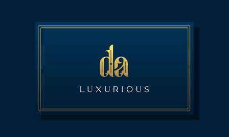 Vintage royal initial letter DA logo. This logo incorporate with luxurious typeface in the creative way.It will be suitable for Royalty, Boutique, Hotel, Heraldic, fashion and Jewelry.