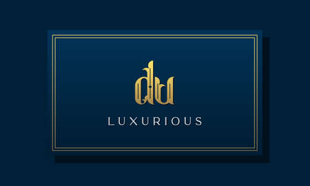 Vintage royal initial letter DU logo. This logo incorporate with luxurious typeface in the creative way.It will be suitable for Royalty, Boutique, Hotel, Heraldic, fashion and Jewelry.