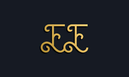 Luxury fashion initial letter EE logo. This icon incorporate with modern typeface in the creative way. It will be suitable for which company or brand name start those initial. Stock Illustratie