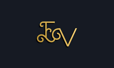 Luxury fashion initial letter EV logo. This icon incorporate with modern typeface in the creative way. It will be suitable for which company or brand name start those initial. Stock Illustratie