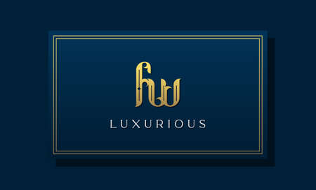 Vintage royal initial letter FW logo. This logo incorporate with luxurious typeface in the creative way.It will be suitable for Royalty, Boutique, Hotel, Heraldic, fashion and Jewelry.