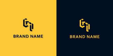 Minimalist Initial letters CI logo. This logo incorporate with modern typeface in the creative way. It will be suitable for which company or brand name start those initial.