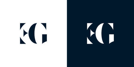 Abstract letter EG icon.