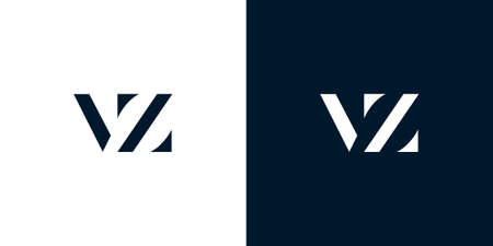 Abstract letter VZ logo. This logo incorporate with abstract typeface in the creative way.It will be suitable for which company or brand name start those initial.