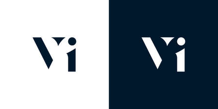 Abstract letter VI logo. This logo incorporate with abstract typeface in the creative way.It will be suitable for which company or brand name start those initial.