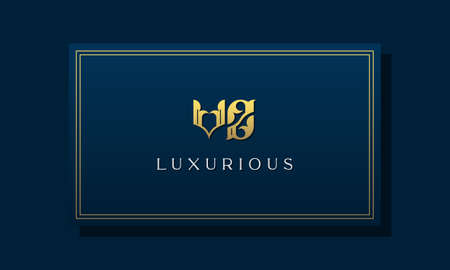 Vintage royal initial letters VZ logo. This logo incorporate with luxurious typeface in the creative way. It will be suitable for Royalty, Boutique, Hotel, Heraldic, fashion and Jewelry. Logó