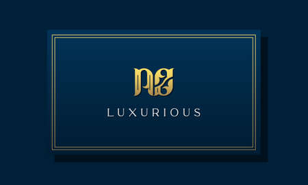 Vintage royal initial letters NZ logo. This logo incorporate with luxurious typeface in the creative way. It will be suitable for Royalty, Boutique, Hotel, Heraldic, fashion and Jewelry.
