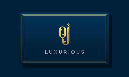 Vintage royal initial letters OJ logo. This logo incorporate with luxurious typeface in the creative way. It will be suitable for Royalty, Boutique, Hotel, Heraldic, fashion and Jewelry.