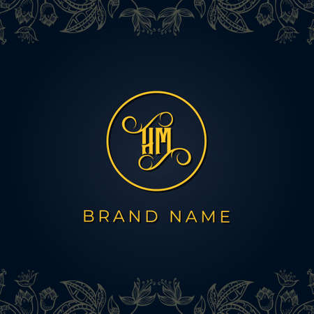 Royal luxury letter HM logo.This logo incorporate with luxury typeface in the creative way.It will be suitable for which company or brand name start those initial. Logó