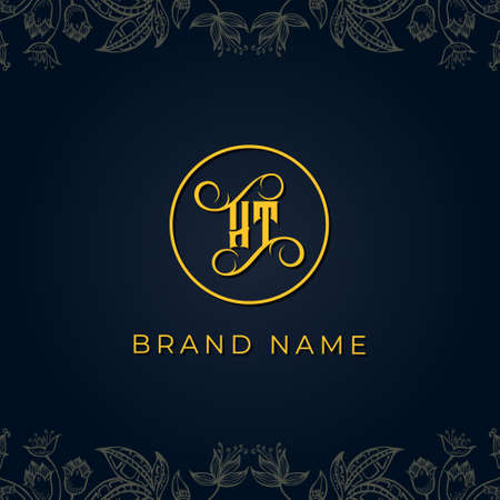 Royal luxury letter HT logo.This logo incorporate with luxury typeface in the creative way.It will be suitable for which company or brand name start those initial.