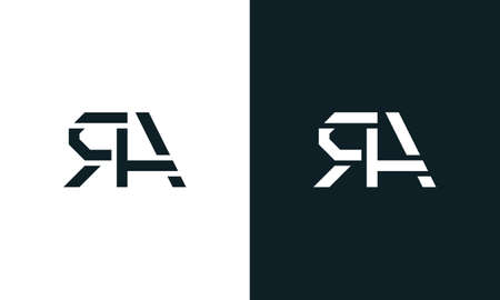 Creative minimal abstract letter RA logo. This logo incorporate with abstract typeface in the creative way.It will be suitable for which company or brand name start those initial.