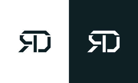 Creative minimal abstract letter RD logo. This logo incorporate with abstract typeface in the creative way.It will be suitable for which company or brand name start those initial. Logo