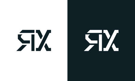 Creative minimal abstract letter RX logo. This logo incorporate with abstract typeface in the creative way.It will be suitable for which company or brand name start those initial.