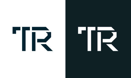 Creative minimal abstract letter TR logo. This logo incorporate with abstract typeface in the creative way.It will be suitable for which company or brand name start those initial.