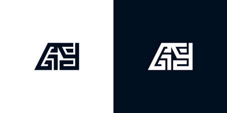 Minimal creative initial letters GY logo. This logo incorporate with two creative letters in the creative way. It will be suitable for which company or brand name starts those initial letters. Logó