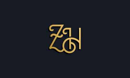 Luxury fashion initial letter ZH. This icon incorporate with modern typeface in the creative way. It will be suitable for which company or brand name start those initial.
