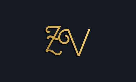 Luxury fashion initial letter ZV. This icon incorporate with modern typeface in the creative way. It will be suitable for which company or brand name start those initial.