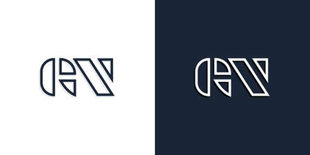 Abstract line art initial letters GN logo. This logo incorporate with abstract typeface in the creative way.It will be suitable for which company or brand name start those initial. Logó