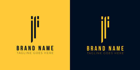 This logo icon incorporate with abstract rectangle shape and typeface in the creative way. Modern letter logo design in yellow and black background.