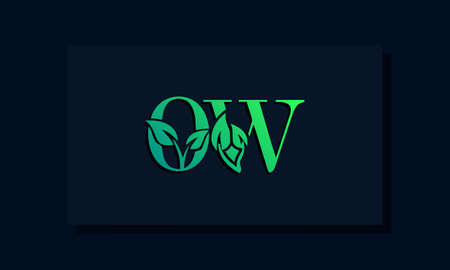 Minimal leaf style Initial OW logo. This logo incorporate with leaf and two letter in the creative way. It will be suitable for ECO, green, nature, growth and herbal related Brand or company.