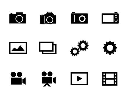 Set of icons for cameras, photos, videos, etc.