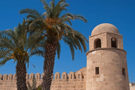 constitutes: Medina and date palms against the blue sky background are the trademark of Tunisia. The Medina of Sousse constitutes an outstanding example of Arabo-Muslim and Mediterranean architecture.