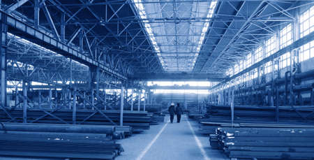 Rambling shop floor ia made as steel construction  This production department make a specialty out of metalworks manufacturing