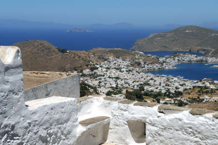 chora: Patmos is a small Greek island in the Aegean Sea  Patmos is a destination for Christian pilgrimage who want to see the Cave of the Apocalypse