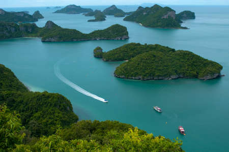 ang thong: This is Archipelago of Ang Thong -  National Marine Park near Koh Samui, Thailand  The archipelago comprises of some forty plus islands, mostly uninhabited
