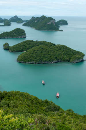 ang thong: These tropical islands are Archipelago of Ang Thong -  National Marine Park near Koh Samui, Thailand. The archipelago comprises of some forty plus islands, mostly uninhabited.