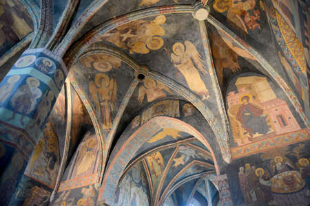 This is an interior view of Holy Trinity Chapel in Lublin (Poland). All frescos in the Chapel are original and have not been reconstructed.