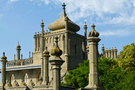 voroncov: This is the northern facade of Vorontsov Palace (Alupka, Crimea). The palace is situated against the blue sky background.