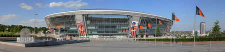 donbass: This is a panoramic view of modern ctadium. Donbass Arena or Donbas Arena is a stadium with a natural grass pitch in Donetsk, Ukraine ( disputed territory) that opened on 29 August 2009. Editorial
