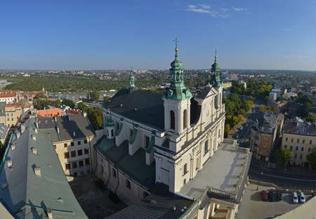lublin: This is a top view of Lublin Poland from Trynitarska Tower.