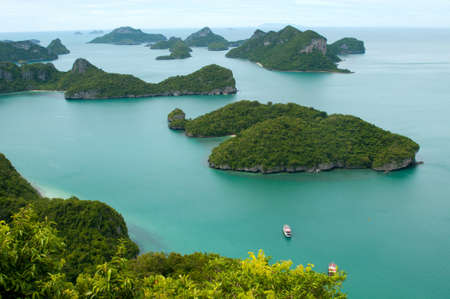 ang thong: Tropical islands of Archipelago of Ang Thong - National Marine Park near Koh Samui, Thailand. The archipelago comprises of some forty plus islands, mostly uninhabited.
