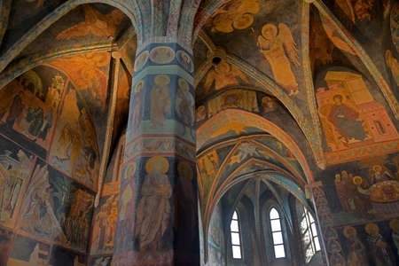 lublin: Holy Trinity Chapel frescoes original and have not reconstructed - Lublin, Poland.