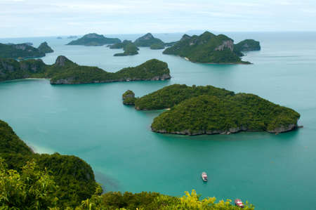 ang thong: These tropical islands of Ang Thong Archipelago -  National Marine Park near Koh Samui, Thailand. The archipelago comprises of some forty plus islands, mostly uninhabited. Stock Photo