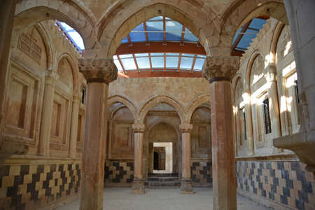 agri: Hall of ancient Ishak Pasha Palace Turkey. Editorial