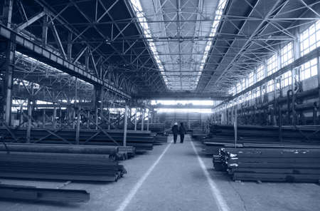 out of production: Rambling shop floor has been built as steel construction. This production department make a specialty out of metalworks manufacturing.