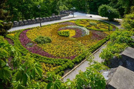 flowered: Beautiful flowered bed on terrace in Lillafured park.