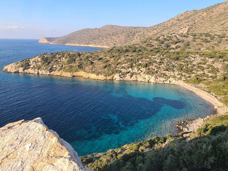 Turquoise bays on the Datca Peninsula. Overview.
