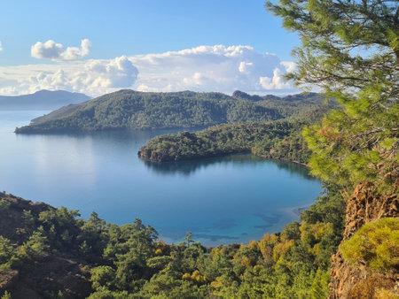 Turquoise bays on Datca Peninsula. Overview. Turkey. Stock Photo