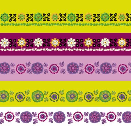 peasant: Uzbek traditional embrodery vector illustration. susane pattern