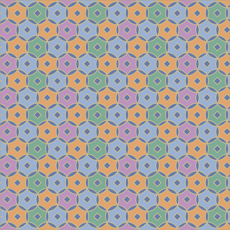 nuance: Japanese seamless floral round pattern