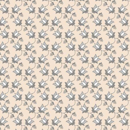 nuance: pearls pale color decorative floral pattern